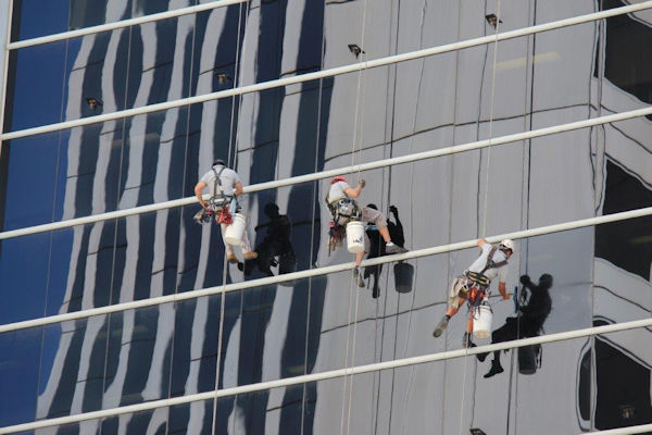 Industrial Rope Access Window Cleaning